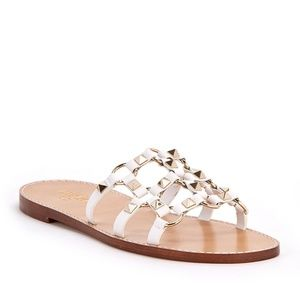VALENTINO Rockstud Spike Cage Flat Slide Sandals